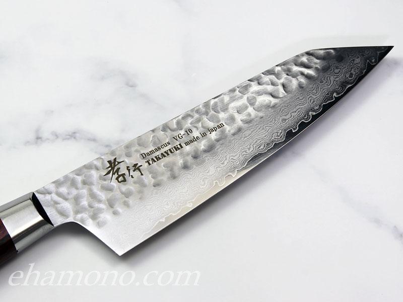 V金10号 ダマスカス33層鎚目剣型三徳160・冷凍包丁セット