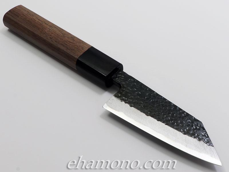 西田刃物工房 大祐作 切付出刃90 両刃 黒打鎚目