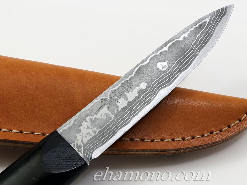 佐治武士作【マキリ小刀】白紙多層鋼 両刃