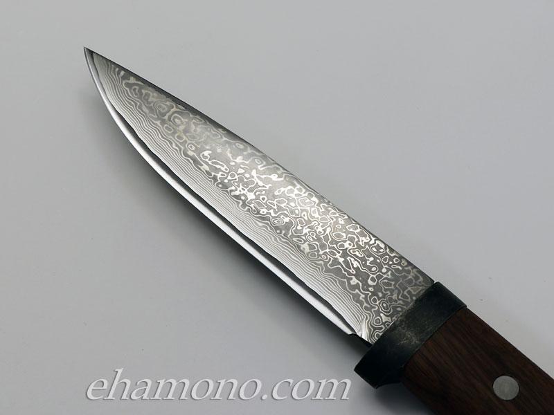 土居良明作 ニッケルダマスカスナイフ