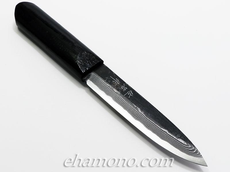 佐治武士作【マキリ小刀】白紙多層鋼 片刃 黒