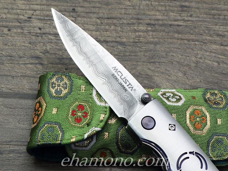 MCUSTA ダマスカス鋼フォールディングナイフ 松葉