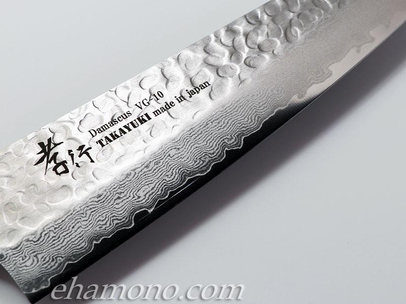 堺孝行 V金10号ダマスカス33層鎚目 剣型牛刀180