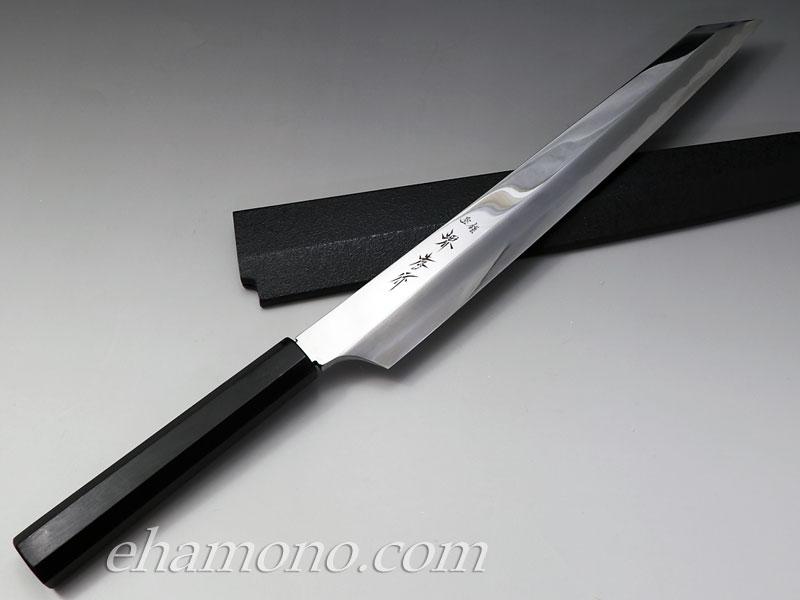 堺孝行 飛燕 剣先柳刃 青二鋼鏡面300