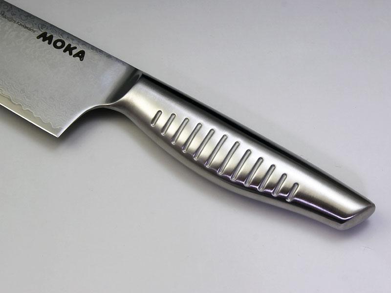 MOKA V金10号ダマスカス一体型三徳包丁
