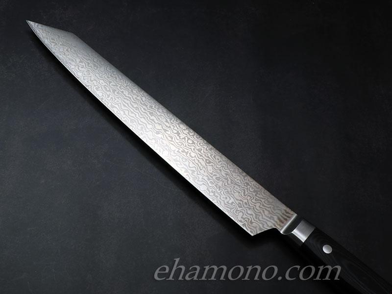 堺孝行 コアレスダマスカス 剣型(切付)柳刃260 ブラックマイカルタ