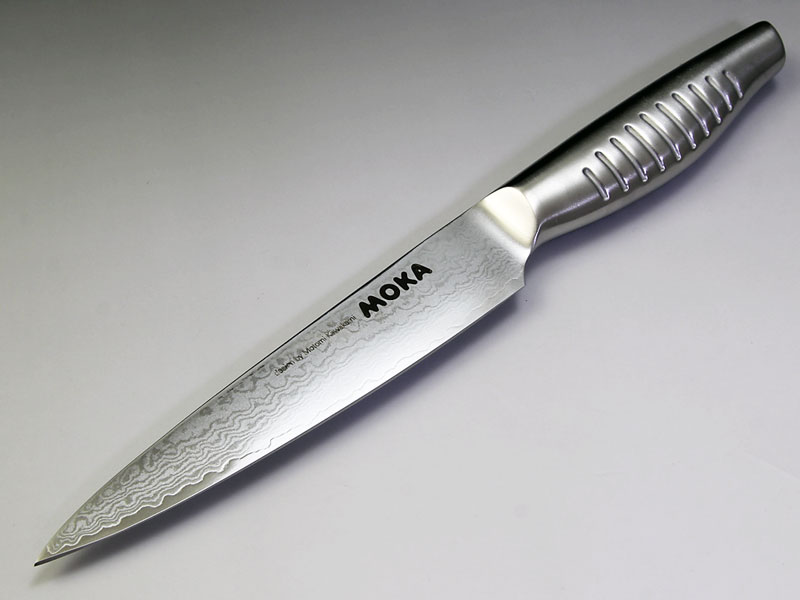 MOKA V金10号ダマスカス一体型 ペティナイフ130