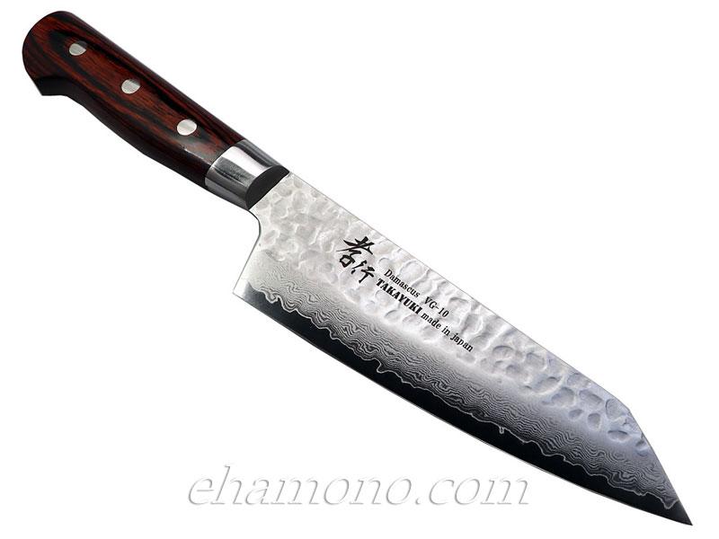 堺孝行 33層槌目ダマスカス 剣型三徳(切付三徳)160mm