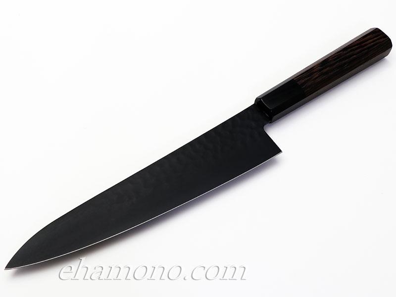 堺孝行 黒影 牛刀210 V金10号鎚目フッ素加工和式包丁【即日出荷品】