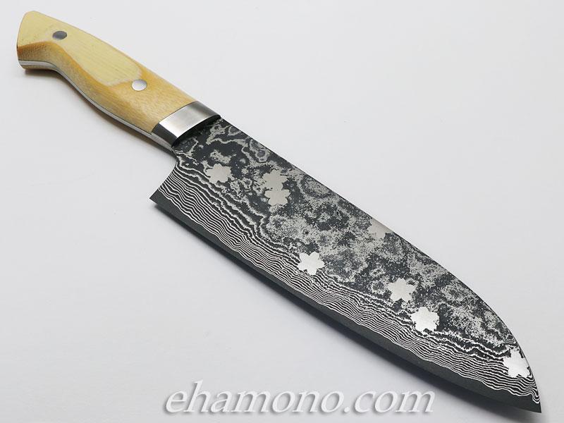 片山雄太作 竹三徳 桜ぼかし V金10号ニッケルダマスカス