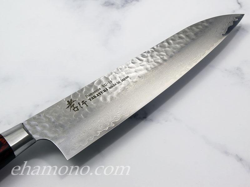 堺孝行 V金10号ダマスカス33層鎚目 牛刀210