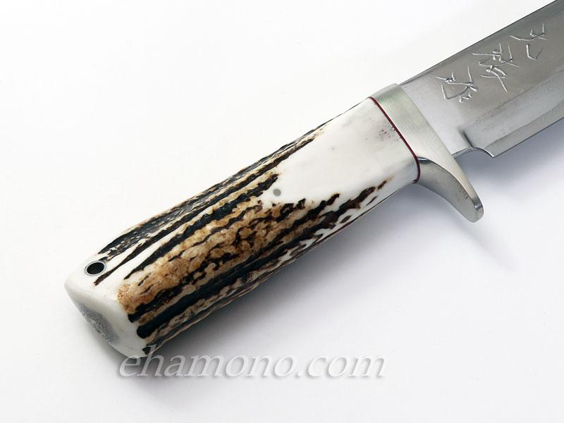西田大祐作 青紙スーパー本割込ナイフ155スタッグ〜Nishida Aogami Super Outdoor Knife155