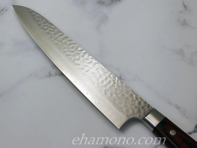 堺孝行 V金10号ダマスカス33層鎚目 牛刀240 Damascus33Layers(Hammered) Cook's knife240