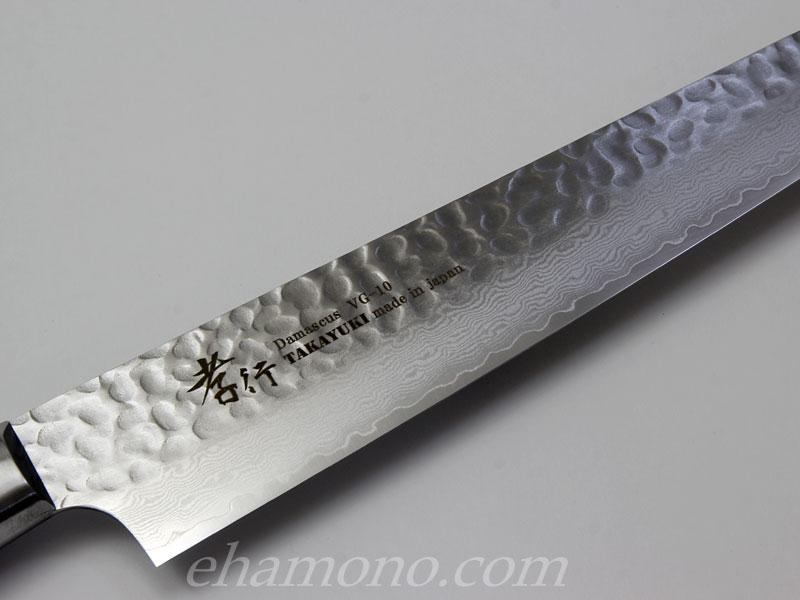 堺孝行 V金10号ダマスカス33層鎚目 筋引240 Damascus33Layers(Hammered) Slicer240