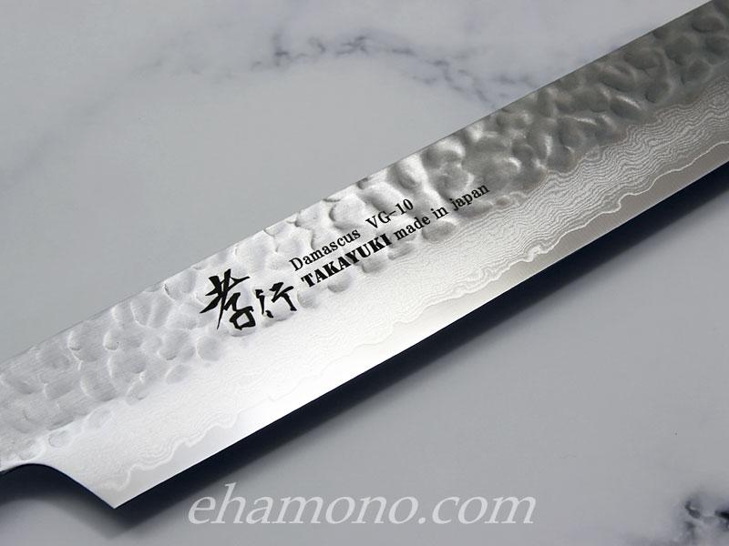 堺孝行 ダマスカス33層鎚目 剣型柳刃270