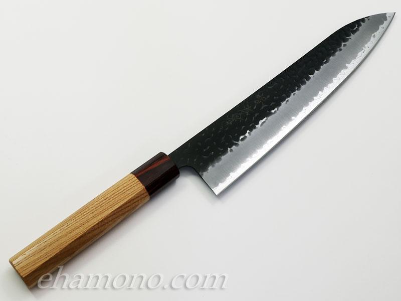 青紙スーパー割込 和牛刀240 黒鎚目〜Aogami super Gyuto240