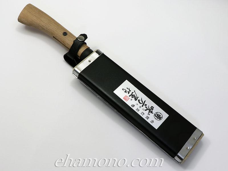 日野浦刃物工房『味方屋作 黒剣鉈210 両刃』