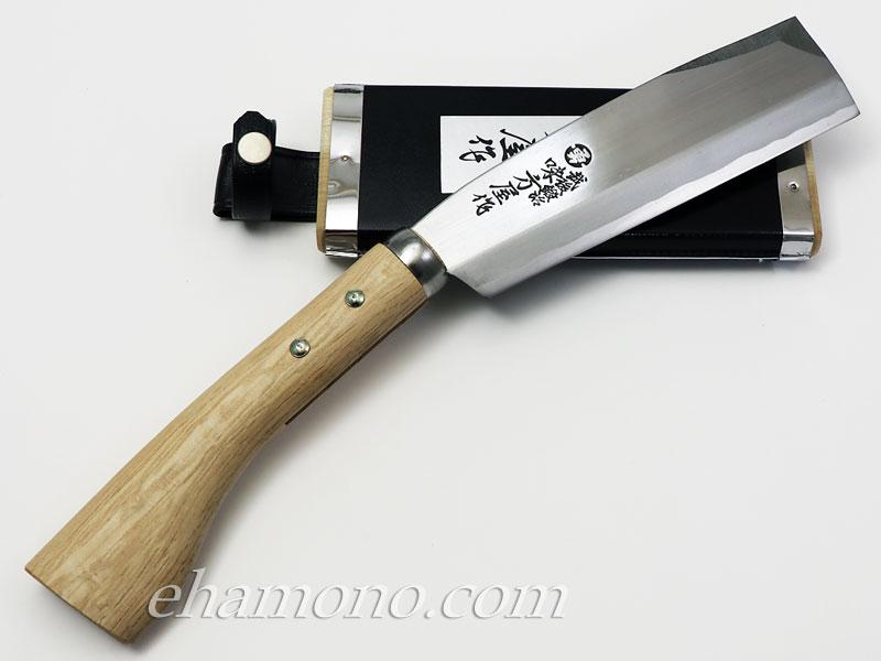 日野浦刃物工房 味方屋作 鞘鉈5.5寸(165)片刃