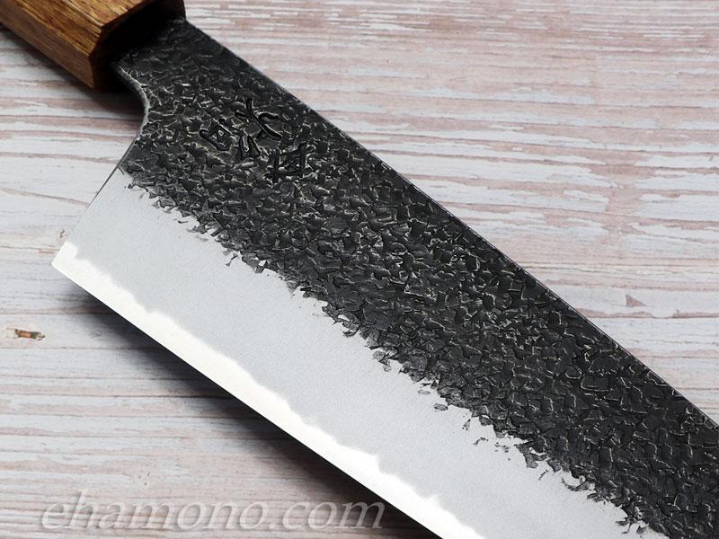 堺孝行 焔 紅蓮 青二鋼 黒打ち鎚目 切付牛刀(剣型牛刀)225