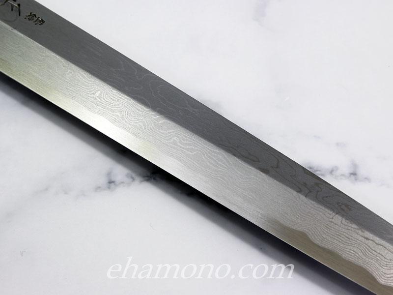 正本 本霞・八層打 玉青鋼誂 柳刃包丁300
