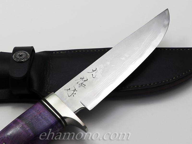 西田刃物工房 大祐作 白1号本割込多層鋼ナイフ165