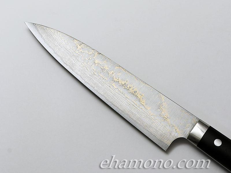 佐治武士作『V金10号金色ダマスカス 牛刀210 G10』