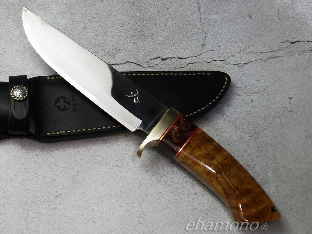 西田刃物工房 大祐作 白一号本割込ナイフ190