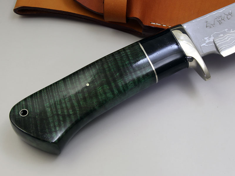 西田刃物工房 大祐作 白1号本割込多層鋼ナイフ210