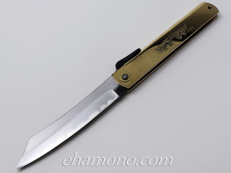【限定品】かね駒 肥後守 特選青紙割込5寸 ジャンボ〜Higonokami Knife Aogami Jumbo