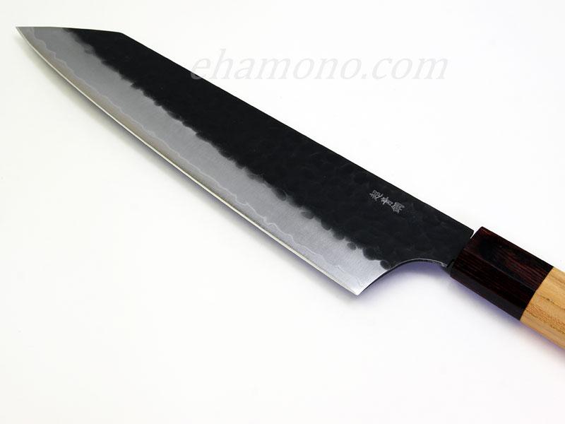 青紙スーパー割込黒鎚目 剣型牛刀190・鞘セット