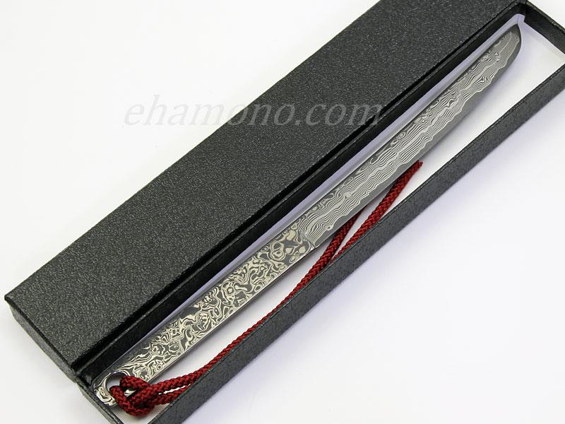 ATHRO 百一層鍛造鋼 レターオープナー ブラック