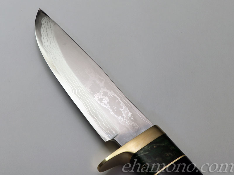 西田刃物工房 大祐作 白1号本割込多層鋼ナイフ150