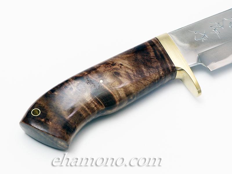 西田刃物工房 大祐作 白一号本割込ナイフ205