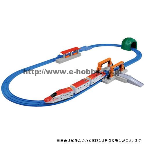 プラレール 連結!E6系スーパーこまち&トミカアーチ踏切セット