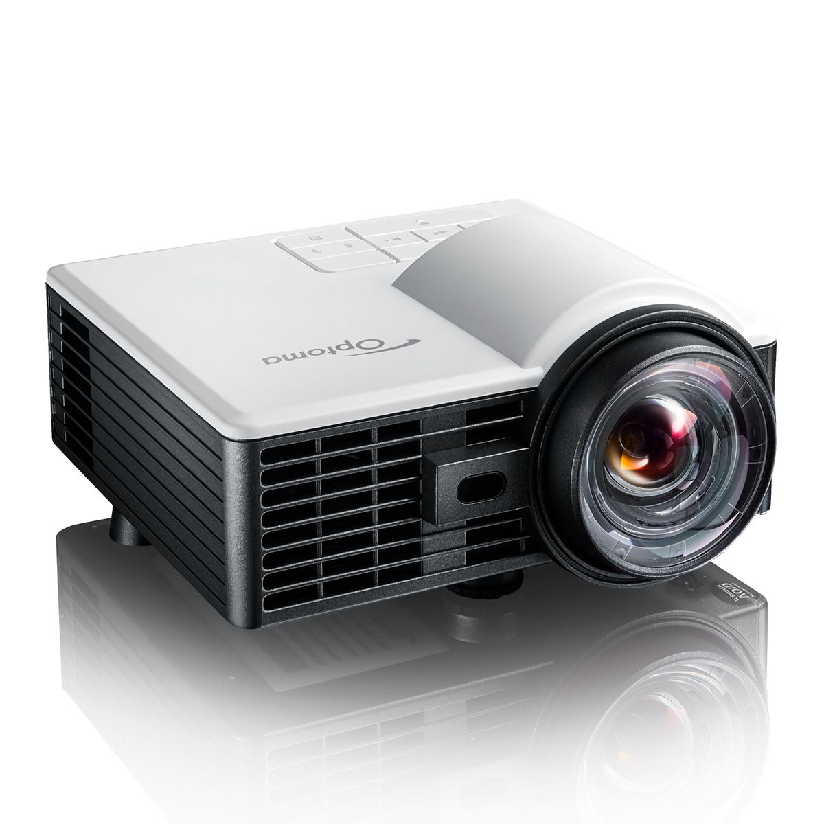 【2泊3日レンタル:9,920円〜】超小型 短焦点 LED モバイルプロジェクター Optoma オプトマ ML1050ST+S1J(120インチ伸縮スクリーン/HDMIケーブル付)