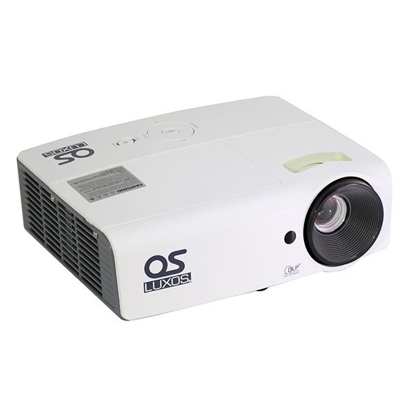 【2泊3日レンタル:10,087円〜】SVGA DLPプロジェクター LUXOS ルクソス LP-300SV1(120インチ伸縮スクリーン/HDMIケーブル付)