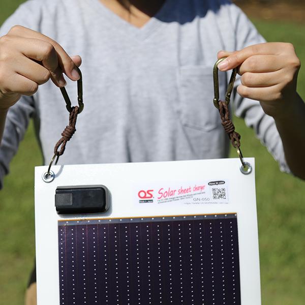 5.4W ソーラーシートチャージャー + USB充電式LEDランタン/1800mAh モバイルバッテリー ・ OS オーエス ソーラーシートチャージャーセット GSB-0500-DC
