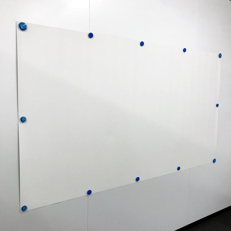 【大サイズ・2.5mカット販売】パペルマット(ポスター・壁紙タイプスクリーン) OS オーエス WM201(1.82m×2.5m)