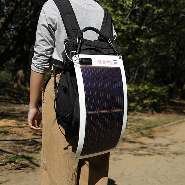 10.8W ソーラーシートチャージャー + 5200mAh LEDライト付/防水バッテリー ・ OS オーエス ソーラーシートチャージャーセット GN-100B1