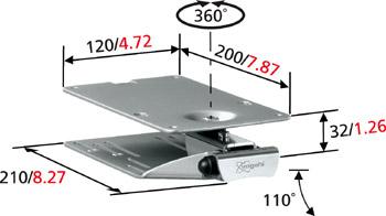 小型ディスプレイ天井収納金具 Vogel's ボーゲルズ EFK1325