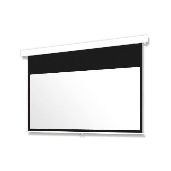 """【今だけ!! """"Amazon Fire TV Stick 4K""""をプレゼント】130インチ 手動 スクリーン フルHD対応(ピュアマット204) OS オーエス MP-130HM-K1/W1-WF204(黒/白パネル)"""