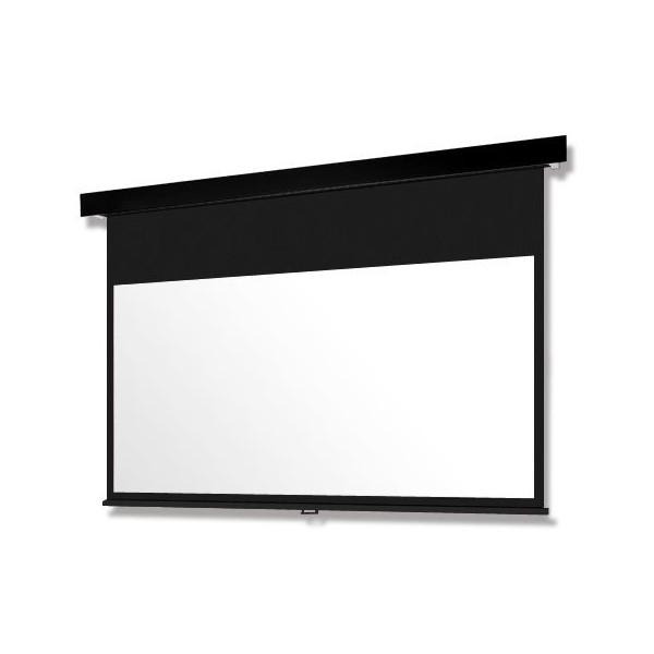 """【今だけ!! """"Amazon Fire TV Stick 4K""""をプレゼント】80インチ 手動 スクリーン フルHD対応(ピュアマット204) OS オーエス MP-080HM-K1/W1-WF204(黒/白パネル)"""