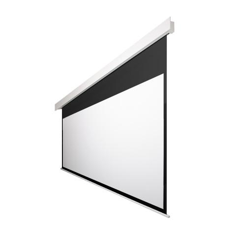 90インチ 電動 スクリーン 4K対応(ピュアマット�シネマ) OS オーエス EP-090HM-MRK1/MRW1-WF302(黒/白パネル)