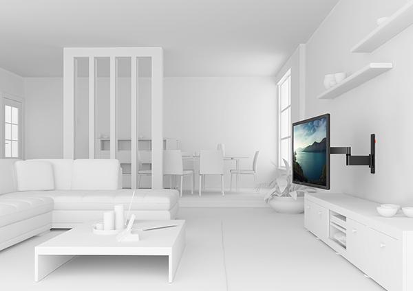 中型 32〜55型 テレビ壁掛け金具 Vogel's ボーゲルズ WALL3245(壁付・ダブルアーム 首振り180°回転)