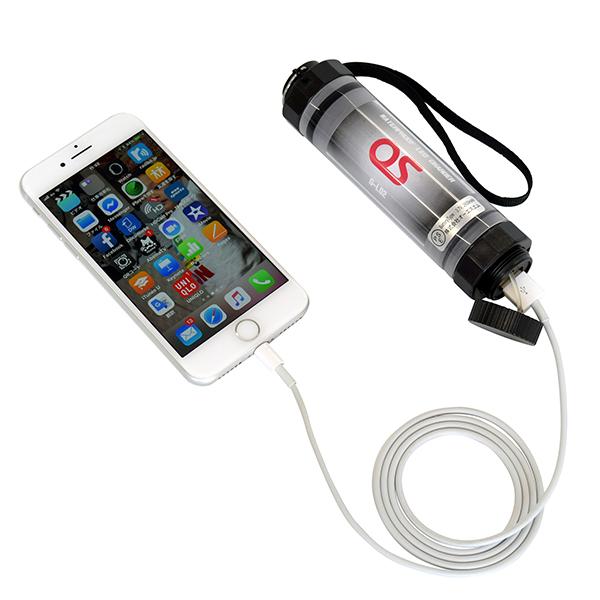 2600mAh LEDライト付/防水モバイルバッテリー OS オーエス GB-09L-DC01(旧型式:G-L02)