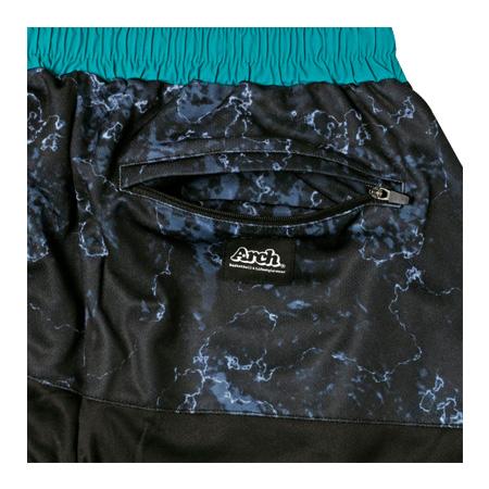 Arch marble lip shorts BLACK
