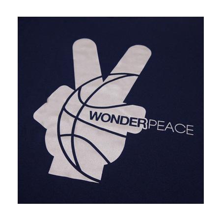 WONDER PEACE Peace Logo Tee NAVY×GRAY