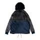 Arch sport fleece jacket GRAY/NAVY