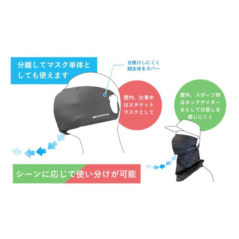 呼吸が驚くほど楽なDARWING muren Mask (ダーウィン ムレンマスク) ネックゲイター付き / ダイヤ工業