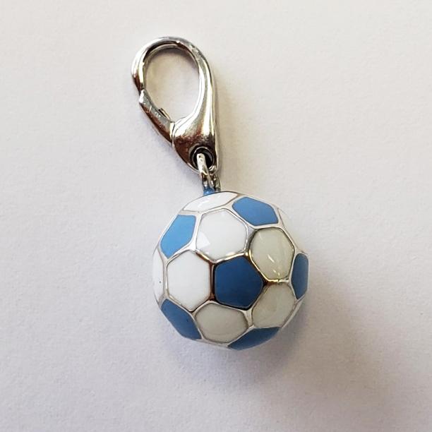 チャーム サッカーボール 《サックスブルー》